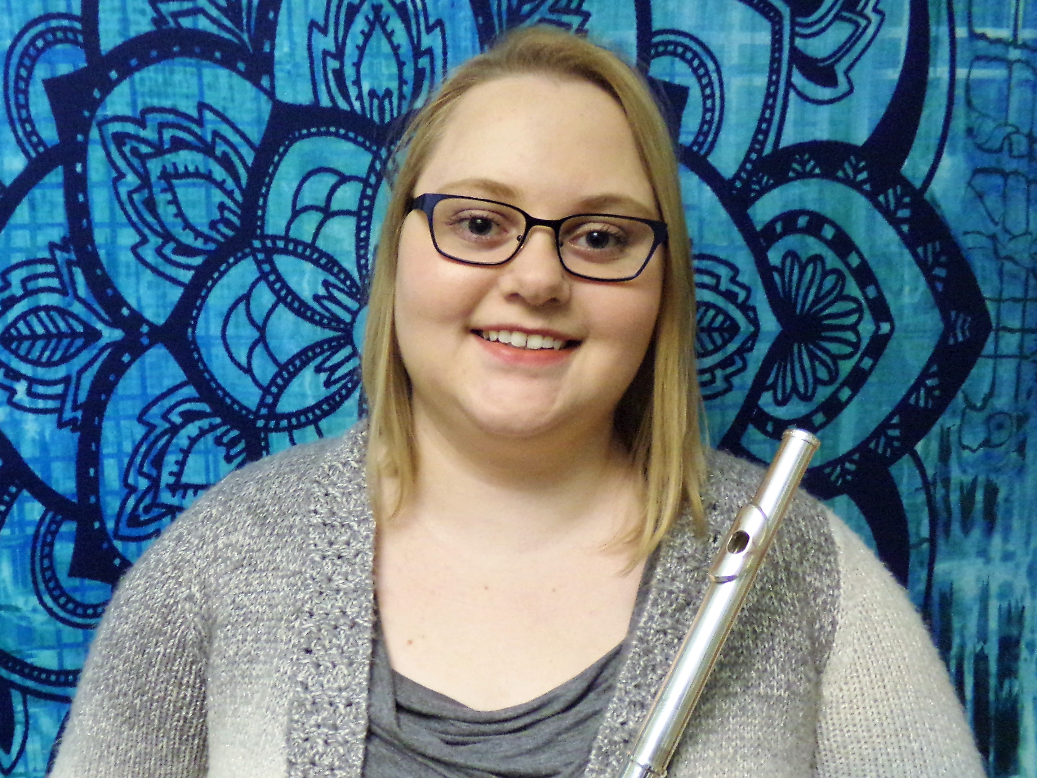Josie Born, a music education major from Elkton, was chosen to serve in the National Flute Association Convention internship program in Orlando August 2018.