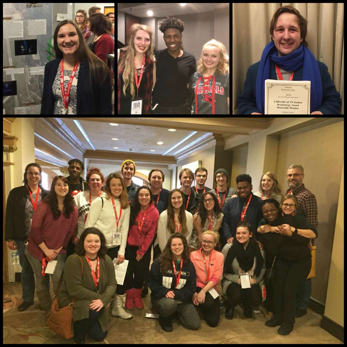 Congratulations to the 20 SVSU students and alumni who were among the 1,400 students participating and competing in theatre- and music-based events during the Kennedy Center American College Theatre Festival for Region III
