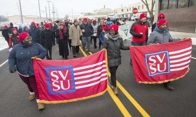 SVSU Students and staff and annual MLK Unity March