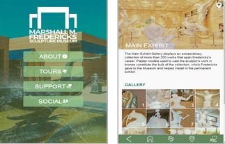 A screenshot of the Marshall Fredericks Musuem mobile application from the App Store.