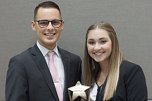 Moot court national competitors Justin Weller and Lindsey Mead