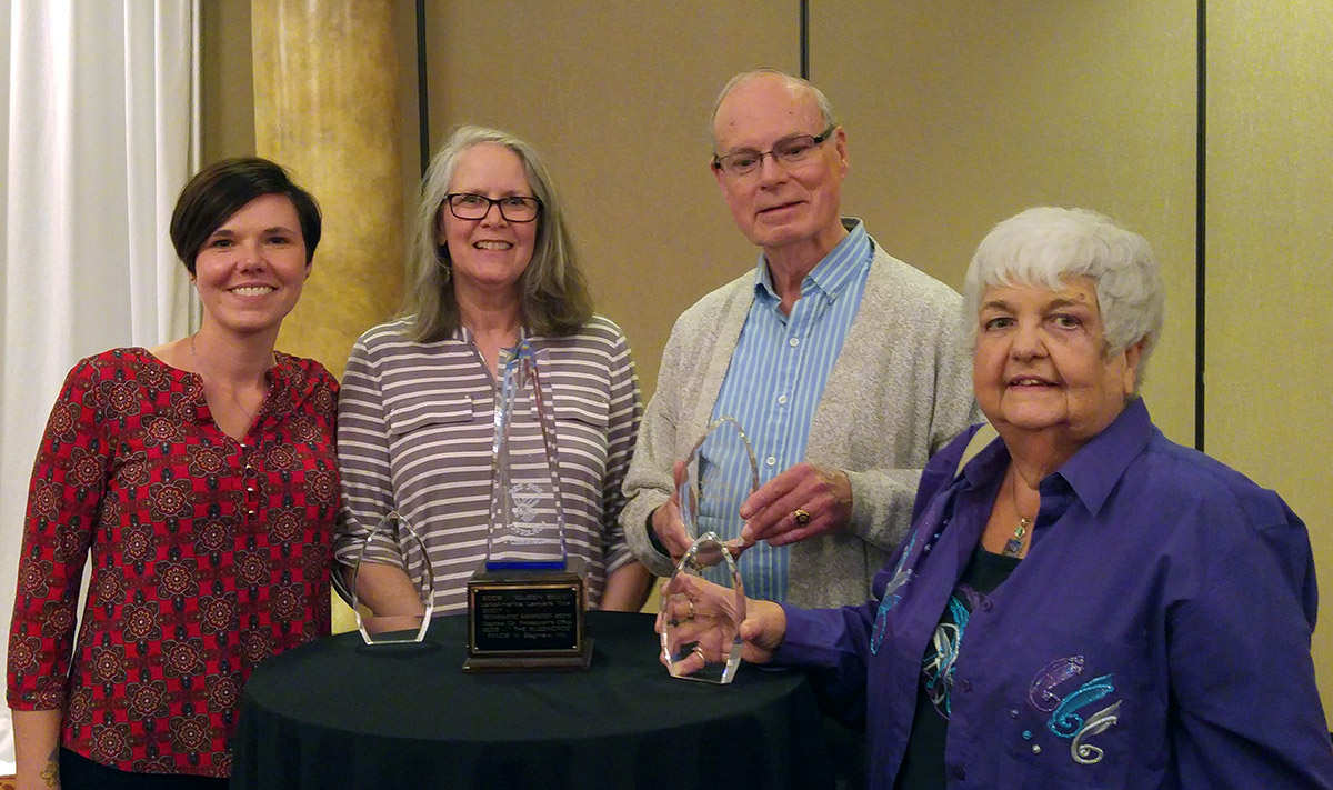 Winners of the 2018 Osher Lifelong Learning Institute who won the Altrusa International /Rotary Club of Saginaw 13th Annual Bee for Literacy