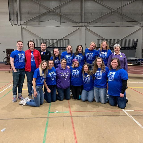 Students, faculty and staff at SVSU's 2019 Relay for Life