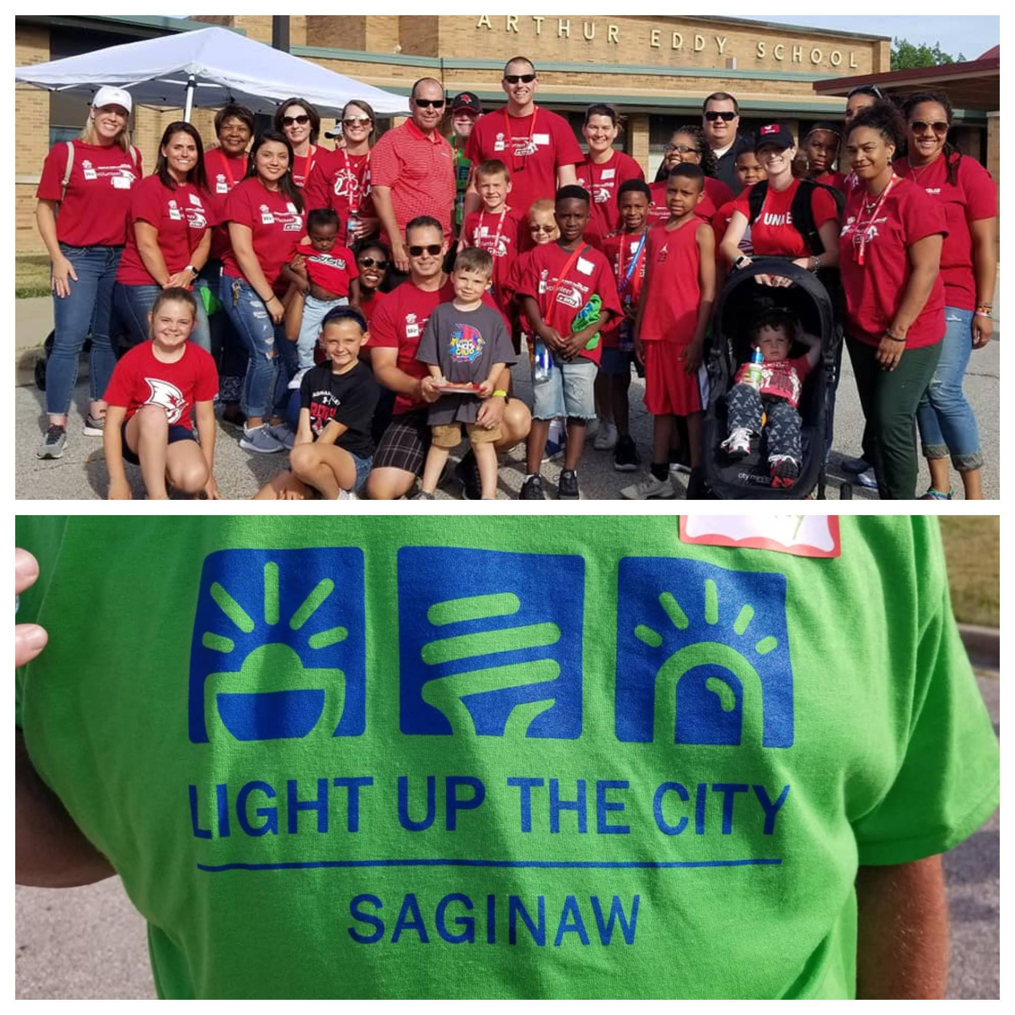 SVSU students, employees and their families who walked in the Light up the City event.