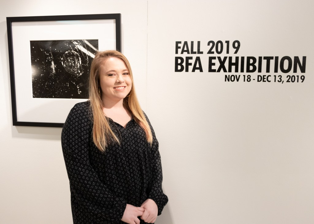 Student showcases her bfa exhibition from fall 2019