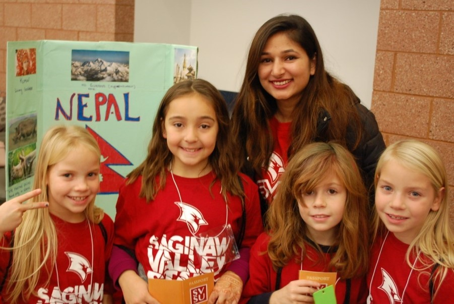 International Students engage with Elementary students and learn about cultures