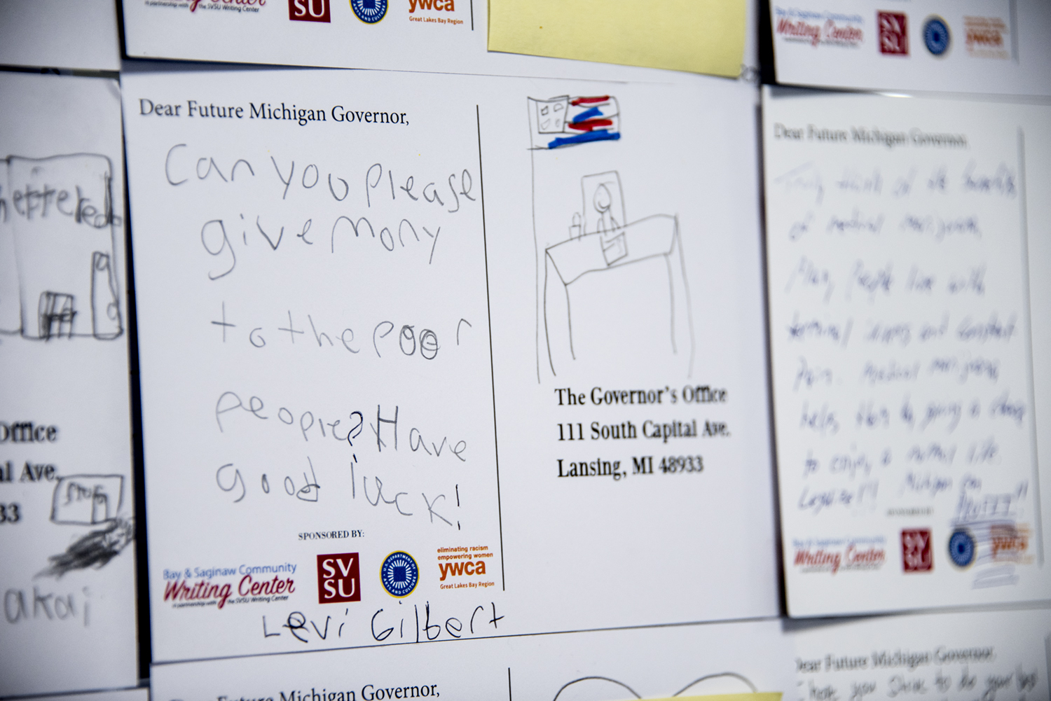 Student letters to Governor Whitmer 2019