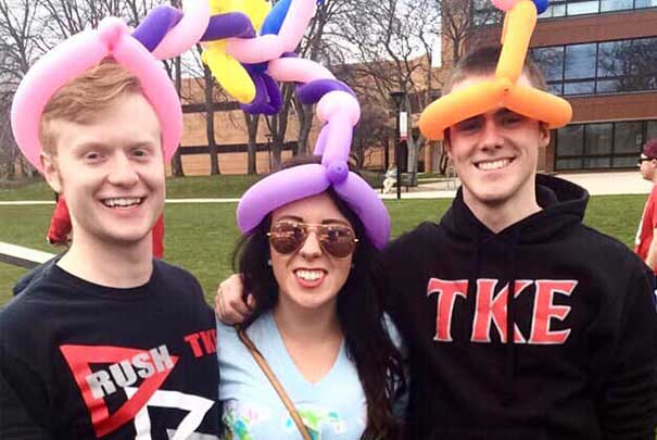 Balloon animal hats with KTE and TKE