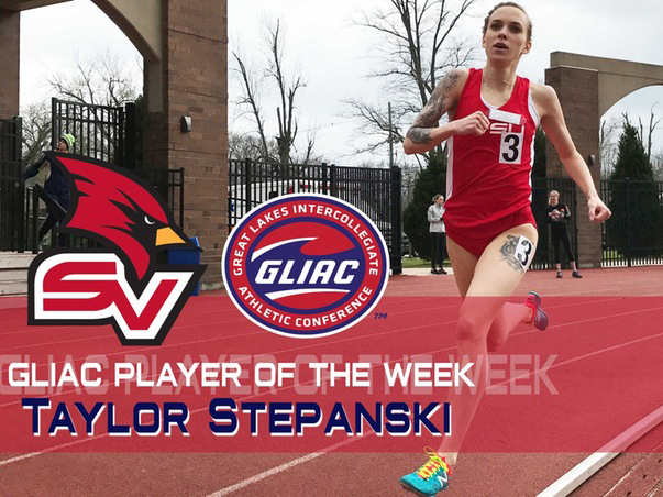 Taylor Stepanski, selected as the GLIAC Outdoor Track Athlete of the Week