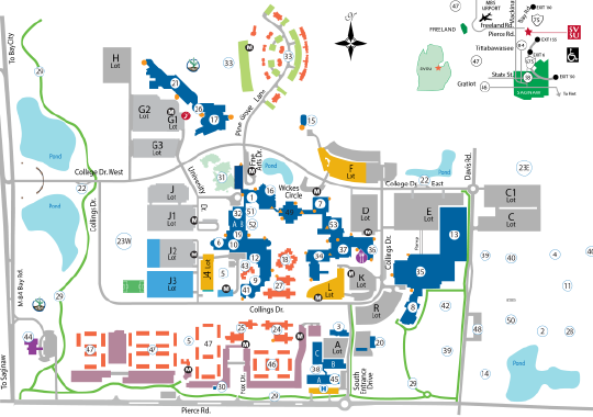 U Michigan Campus Map.Svsu Go Visit Maps