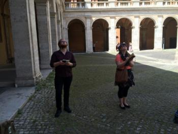 Colin and Emily at St Ivo alla Sapienza