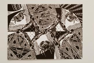 Spiders - woodcut