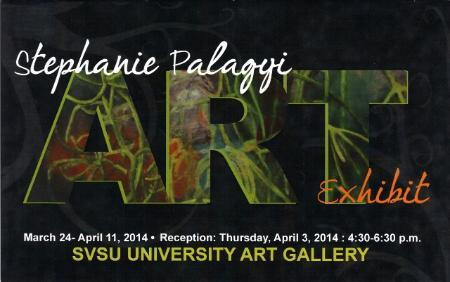 Stephanie Palagyi Postcard - exhibit March 24 - April 11, 2014
