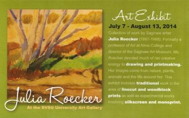Julia Roecker Exhibit postcard