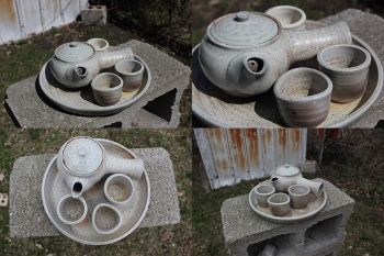 Soda Fired Tea Set Salt, soda and wood fired white stoneware 2020