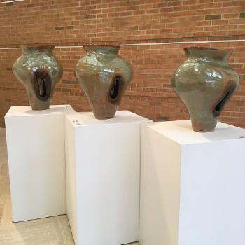 photo of three vases done by student billy haboush and awarded juror's choice