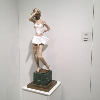photo of paper mache figurative sculpture done by student brende henry and awarded best in show
