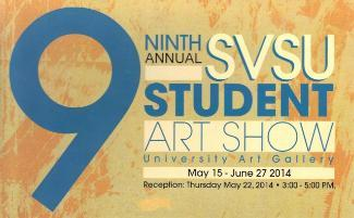 9th Annual Student Art Exhibit - postcard