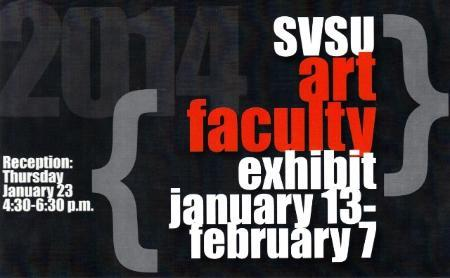 SVSU Faculty Exhibit postcard January 2014