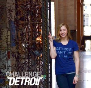 Amanda Gettgen was one of 33 students chosen for an initiative aimed at improving Detroit.