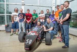 Brooks Byam, Cardinal Formula Racing adviser since 1998, said the 2014 team features an eclectic mix of 16 students designing an Indy-style vehicle distinct from previous incarnations.