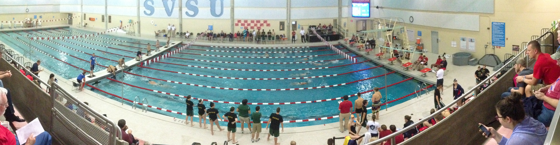 SVSU Swimming and Diving Competition