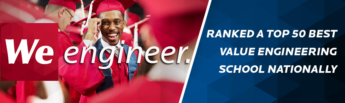 We Engineer - graduating student of a top 50 best value ranked engineering school