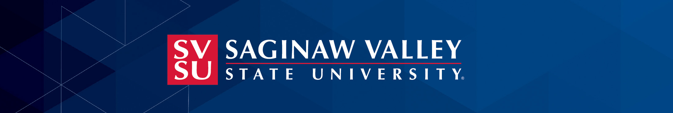 SVSU Logo on Blue background